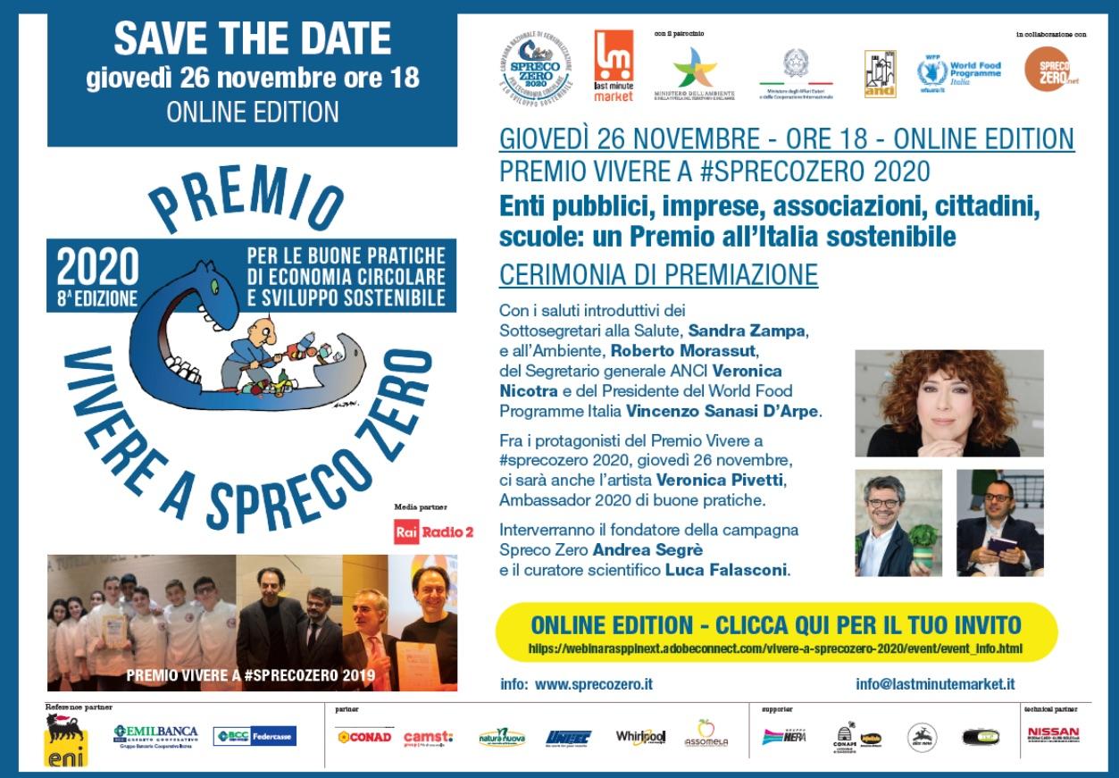 Cibo/Ambiente, Premio Vivere a Spreco Zero 2020: ecco i vincitori! | instArt magazine